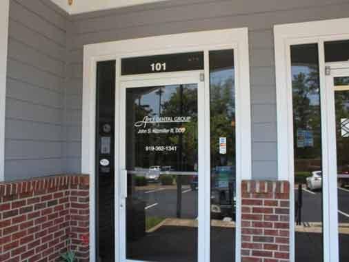 Entry Door to Apex Dental Group in Apex, NC