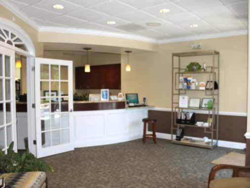 Reception Desk at Apex Dental Group in Apex NC