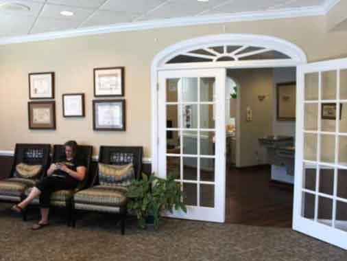 Waiting room at Apex Dental Group in Apex NC