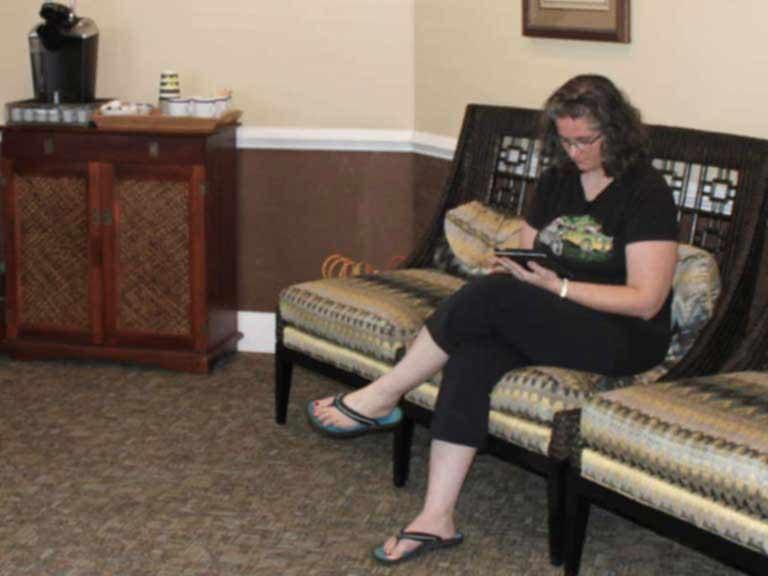 Free Wi-Fi in waiting room at Apex Dental Group in Apex, NC